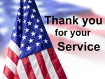 Thank you for Your Service, Cotton or Fleece 2169 - Beautiful Quilt