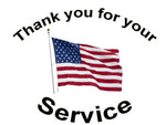 Thank You for Your Service, Cotton or fleece on white 2168 - Beautiful Quilt