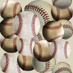 Sports Fabric, Baseball Fabric, Allover Baseballs, Cotton or Fleece 1702 - Beautiful Quilt
