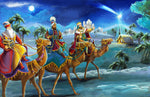 Religious Fabric, Nativity Fabric, We Three Kings 225