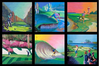 Sports Fabric, Golf Fabric, Fore!, Golf Course Patches 5652 - Beautiful Quilt