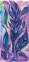 Flower Fabric Frond Dreaming Tree Panel Purple 6186