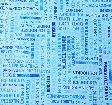 Sports Fabric Winter Fabric Words for the Olympics 5665