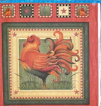 Farm Fabric Chicken Fabric Country Charm Panel 2078