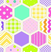 Flannel Fabric, RicRac Paddywack, Hexagon Baby 5433 - Beautiful Quilt