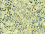 Batik Fabric Hoffman Fabric Green vine on cream 2468