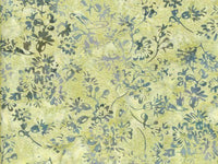 Batik Fabric Hoffman Fabric Green vine on cream 2468 - Beautiful Quilt