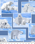 Wildlife Fabric Polar Bear Fabric On the Wild Side 4077
