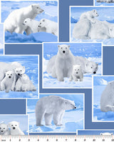Wildlife Fabric Polar Bear Fabric On the Wild Side 4077 - Beautiful Quilt