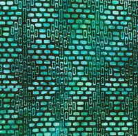 Batik Fabric Mystic Garden Teal 10004 - Beautiful Quilt
