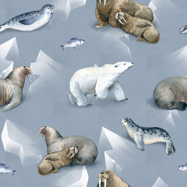 Ocean Fabric, Polar Bear, Walrus Fabric, Seal Fabric, Cotton or Fleece 3539 - Beautiful Quilt