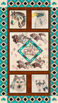 Wildlife Fabric South Western Fabric Spirit Panel 5047 - Beautiful Quilt