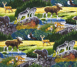 Wildlife Fabric Bear Wolf Elk Bringing Nature Home 5695