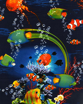 Ocean Fabric Benartex Reef with Fish 4750