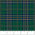 Flannel Fabric Northcott Mountain Lodge Plaid Green 4408