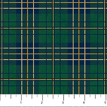 Flannel Fabric, Mountain Lodge, Plaid Green 4408 - Beautiful Quilt