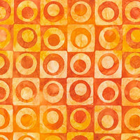 Batik Fabric RK Artisan Elementals Circle Orange 4308 - Beautiful Quilt