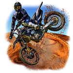 Motorcycle Custom Fabric Dirt Bike Fabric Art Work 5797 - Beautiful Quilt