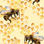 Bug Fabric, Bee Fabric, Bees with Honeycomb Fabric, Cotton or Fleece 1742 - Beautiful Quilt