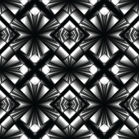 Black and White, Geometric Fabric, Cotton or Fleece 1358 - Beautiful Quilt
