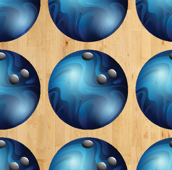 Sports Fabric, Bowling Ball Fabric, Cotton or Fleece, 2094 - Beautiful Quilt