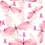 Breast Cancer Fabric, Dragonfly with Pink Ribbon, Cotton or Fleece 3370 - Beautiful Quilt