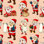 Christmas Fabric, Santa Fabric, Checking His List, Cotton or Fleece 2042 - Beautiful Quilt