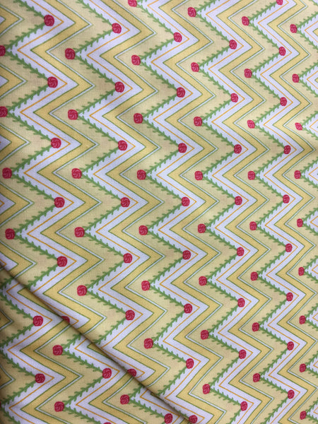 1930's Reproduction Fabric Moda Pedal Pushers chevron 3944 - Beautiful Quilt