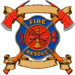 Fire Fighter Fabric Fire Badge Custom Printed 5411