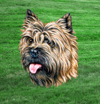 Dog Fabric, Cairn Terrier Fabric Panel, Headshot 1503