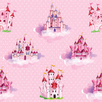 Princess Fabric, Castle Fabric, Cotton or Fleece 1820 - Beautiful Quilt