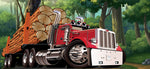 Truck Fabric, Construction Fabric, Lumber Truck 689 - Beautiful Quilt