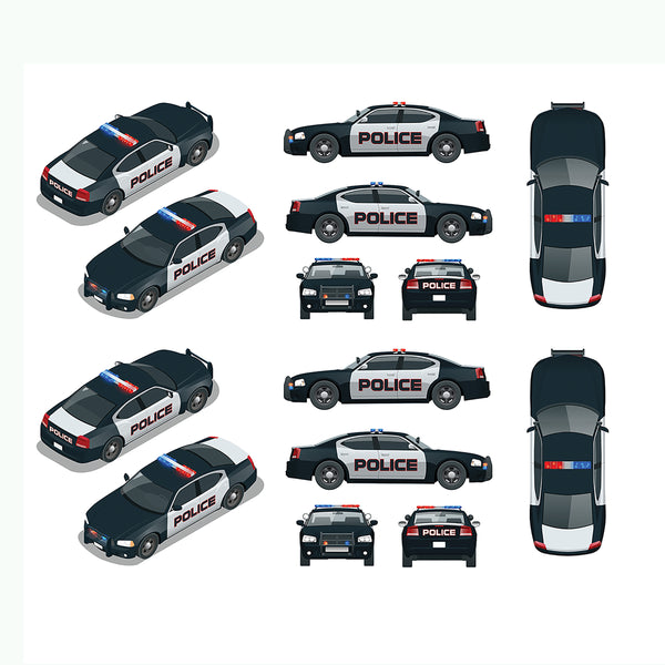 Police Fabric, Police Cars 1290