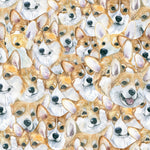 Dog Fabric, Corgi Fabric, All over, Cotton or Fleece 1368 - Beautiful Quilt