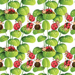 Bug Fabric, LadyBug fabric with leaves 1586 - Beautiful Quilt