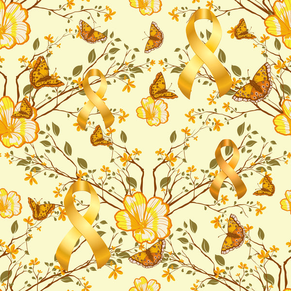 Cancer Fabric, Childhood Cancer, Custom Print Fabric, Butterflies 5889 - Beautiful Quilt