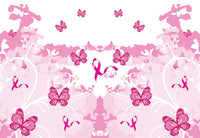 Cancer Fabric, Breast Cancer Fabric, Awareness Fabric Pink Butterfly Cotton or Fleece 5792 - Beautiful Quilt