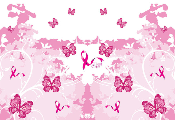 Cancer Fabric, Breast Cancer Fabric, Custom Print Fabric, Awareness Fabric Pink Butterfly 5792 - Beautiful Quilt