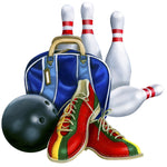 Sports Fabric Bowling Fabric, Ball, Pins, Shoes 5624