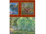 Wildlife Fabric Lakeside landscape 4102 - Beautiful Quilt