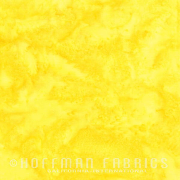 Batik Fabric Hoffman Bali Watercolor Citrine Yellow 5570