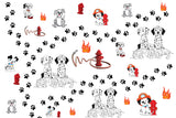 Dog Fabric, Dalmatian Fabric, Cotton or Fleece 1858 - Beautiful Quilt