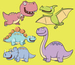 Children's Fabric, Dinosaur Fabric, Toothy Dinos, Cotton or Fleece 2158 - Beautiful Quilt