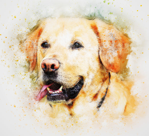 Dog Fabric, Labrador Retriever Fabric, Watercolor Fabric 1170