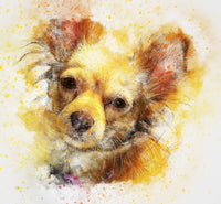 Dog Fabric, Chihuahua Fabric, Watercolor Fabric, Cute Little Dog 1172 - Beautiful Quilt