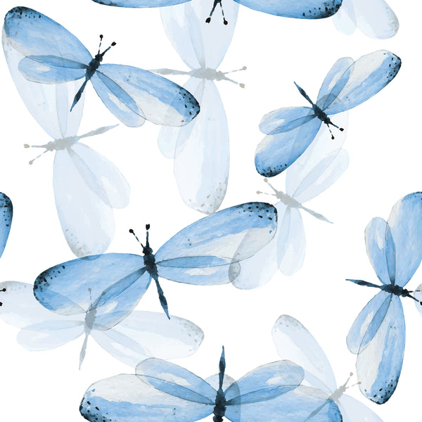 Bug Fabric, Dragonfly Fabric Blue, Cotton or Fleece 1402-Blue - Beautiful Quilt