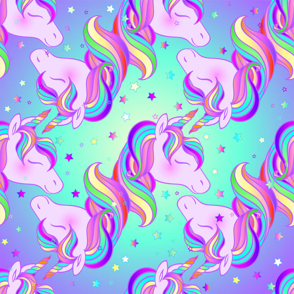 Unicorn Fabric, Upside Down ad Right Side Up Unicorn, Cotton or Fleece, 3410