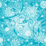 Christmas Fabric, Snowflakes on Teal, Cotton or Fleece, 3349 - Beautiful Quilt