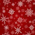 Christmas Fabric, Snowflake Fabric on Red, Cotton or Fleece 3350 - Beautiful Quilt