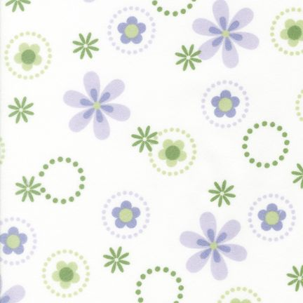 Flannel Fabric RK Cozy Cotton Flowers Purple 4894
